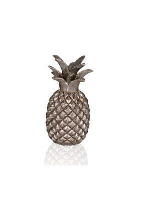 Porio Gümüş Ananas Dekor Biblo   22 cm