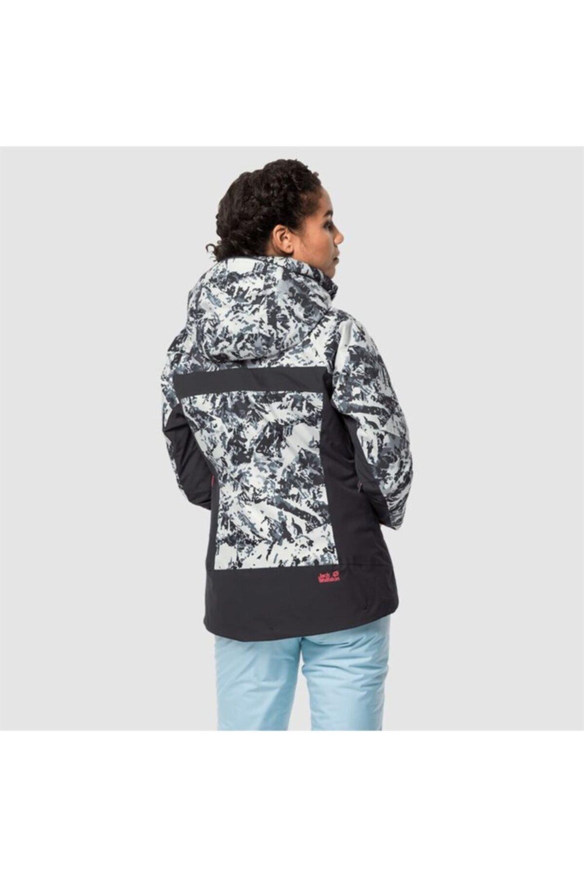 Jack Wolfskin Kadın  Siyah Beyaz Panorama Peak Jacket W Outdoor Mont 2