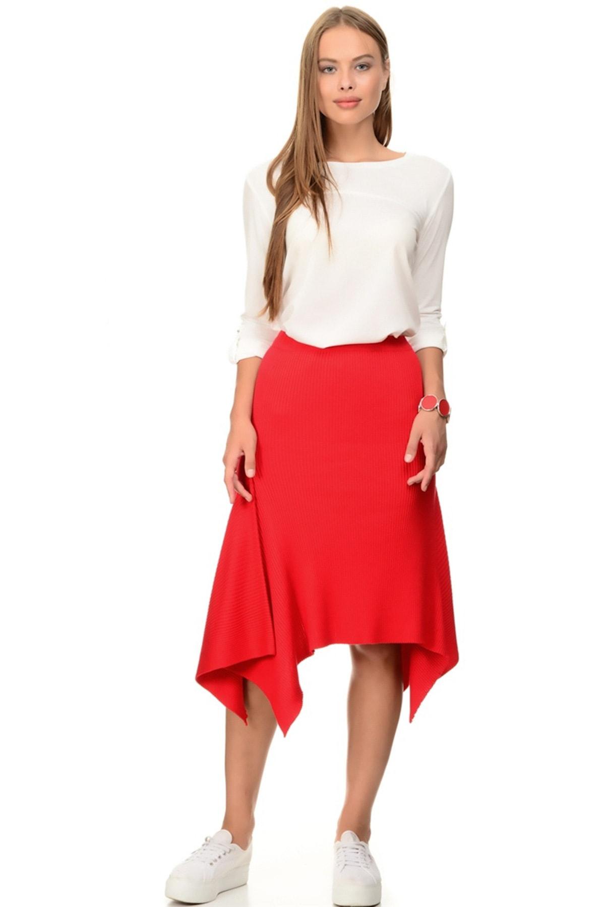 LİMON COMPANY Kadın Kırmızı Etek 501962526 1