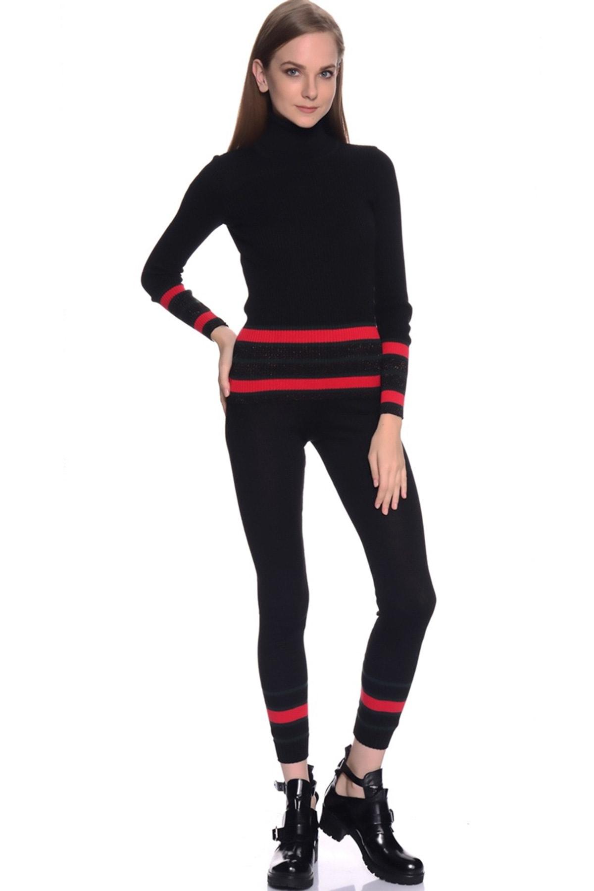 LİMON COMPANY Kadın Kırmızı Tayt 501961621 1