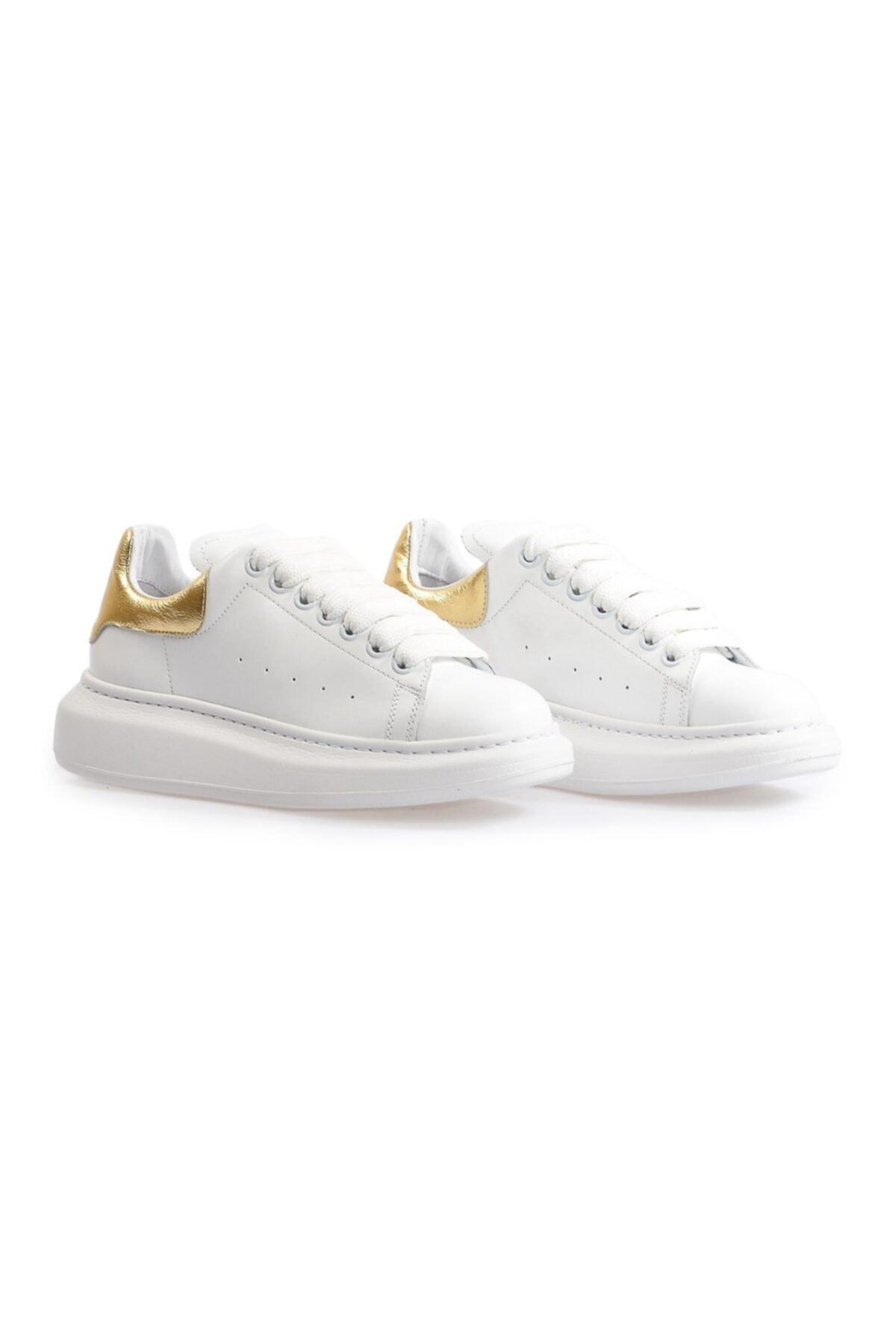 Flower Kadın Beyaz Yüksek Tabanlı Spor Ayakkabı 1