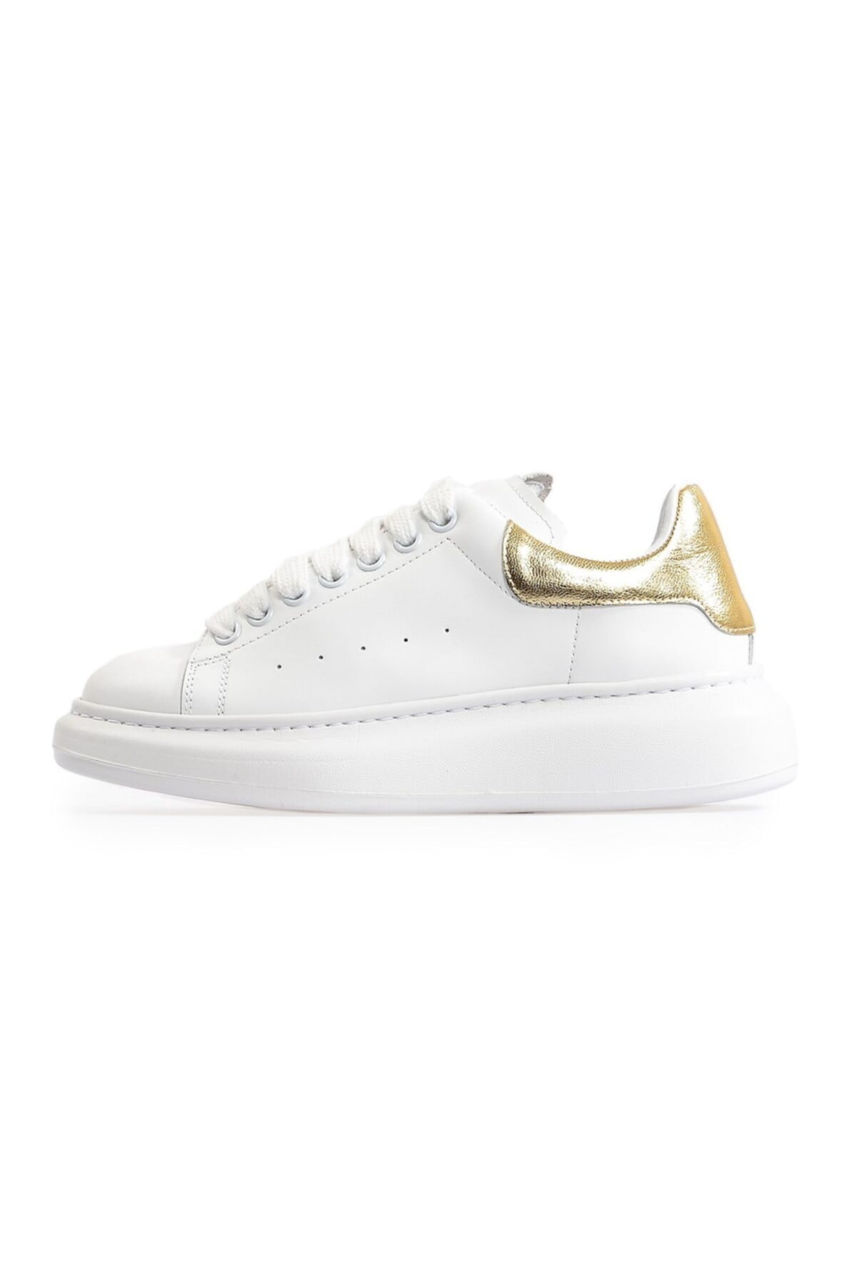 Flower Kadın Beyaz Yüksek Tabanlı Spor Ayakkabı 2