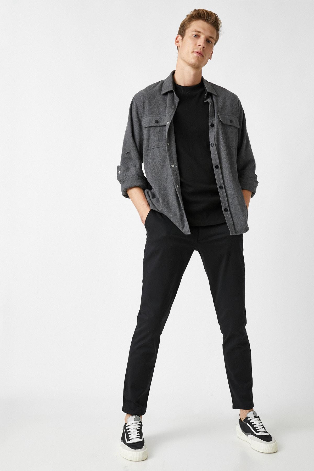 Koton Erkek Siyah Jeans 1YAM42100BW 1