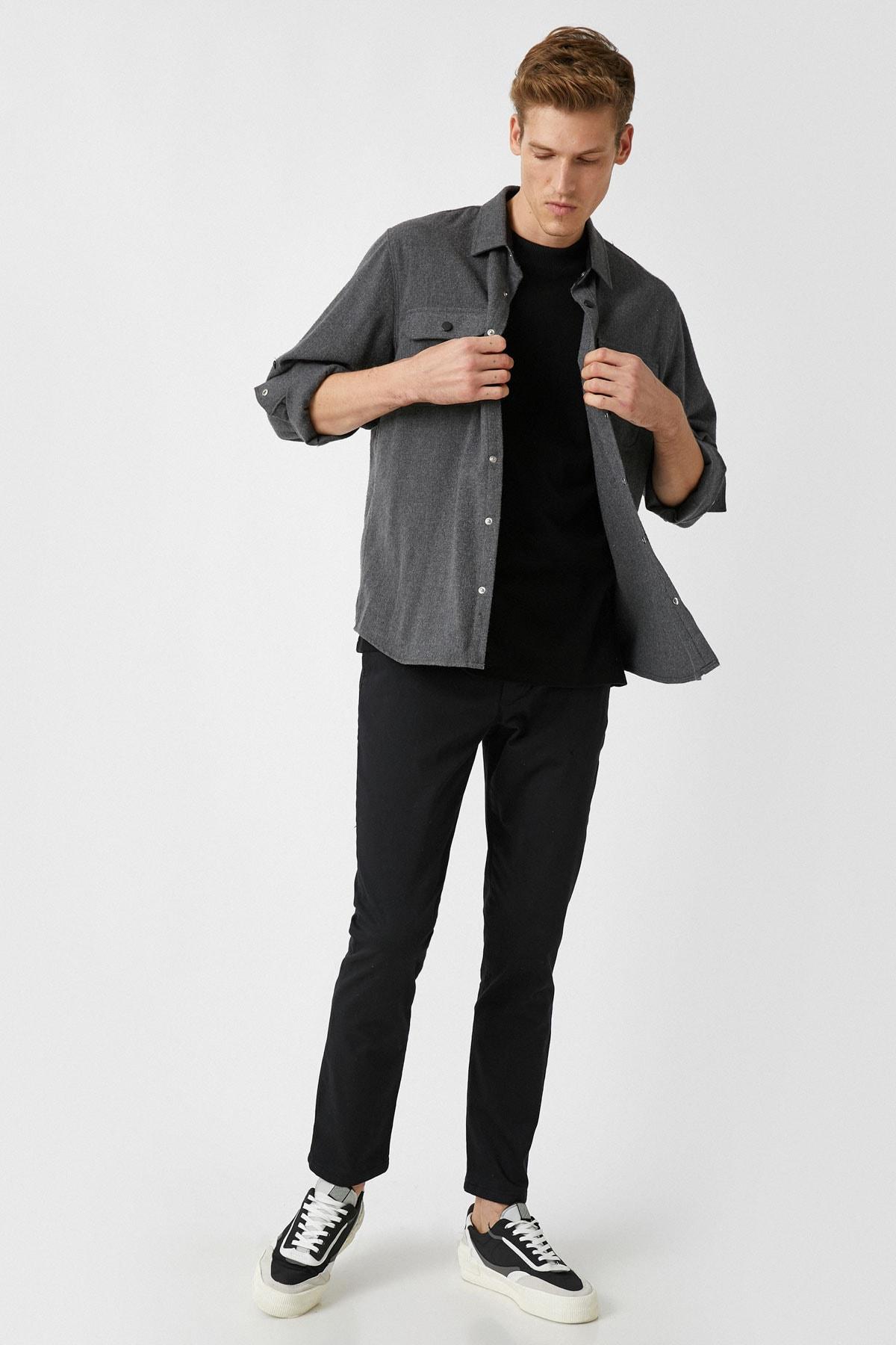 Koton Erkek Siyah Jeans 1YAM42100BW 2