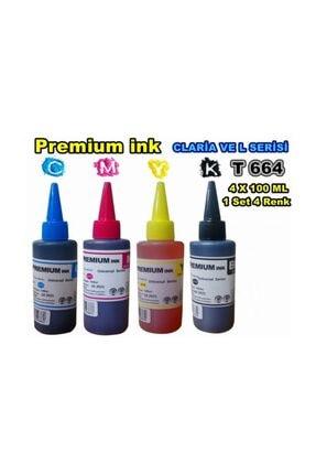 EPSON Premium Ink L1300,l1455,l3050,l3060,l3070 4 Renk X100ml Set