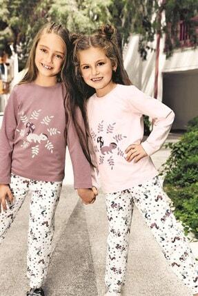 Lohusa Sepeti Kız Çocuk Sincap Pijama Takımı - 3-9 Yaş - 0011