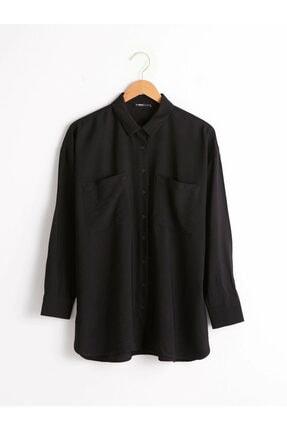 LC Waikiki Kadın Siyah Gömlek