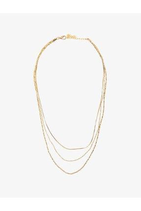 Koton Kadın Sarı Metalik Kolye 0YAK70708OA