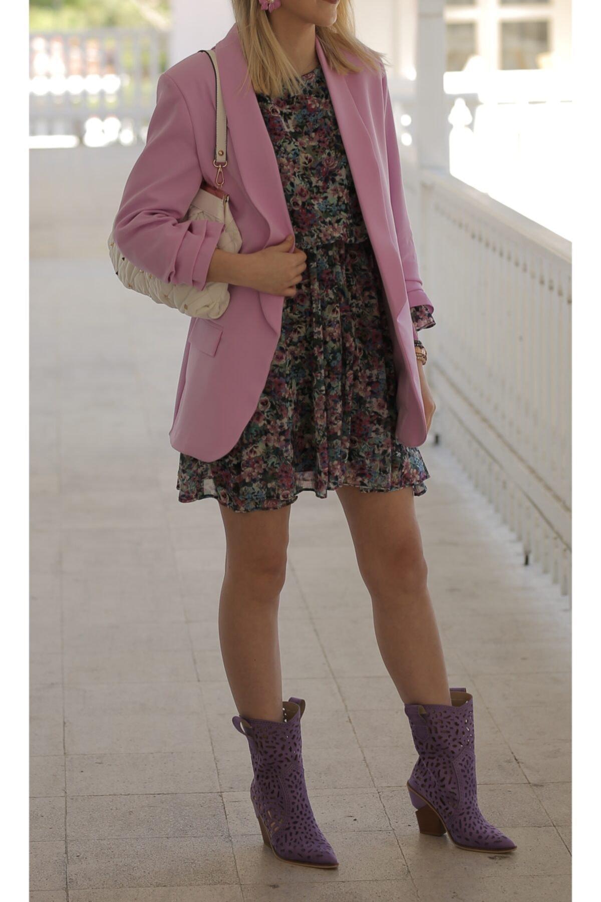 La Rouge Boutique Kadın Lila Çizme 1