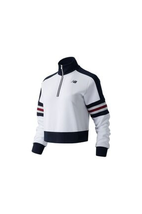 New Balance Kadın Beyaz Achiever Sweatshirt