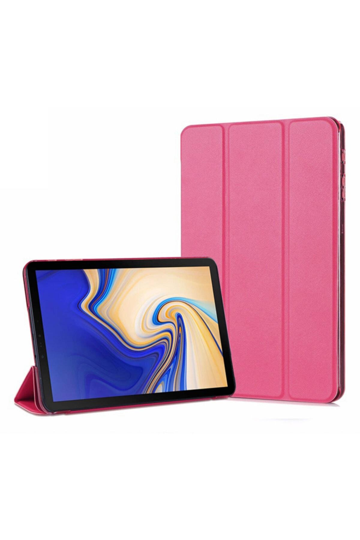 Microsonic Galaxy Tab A 10.5'' T590 Smart Case Ve Arka Kılıf, Microsonic Pembe 1