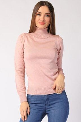 Twister Jeans Kadın Pudra Boğazlı Triko 32805