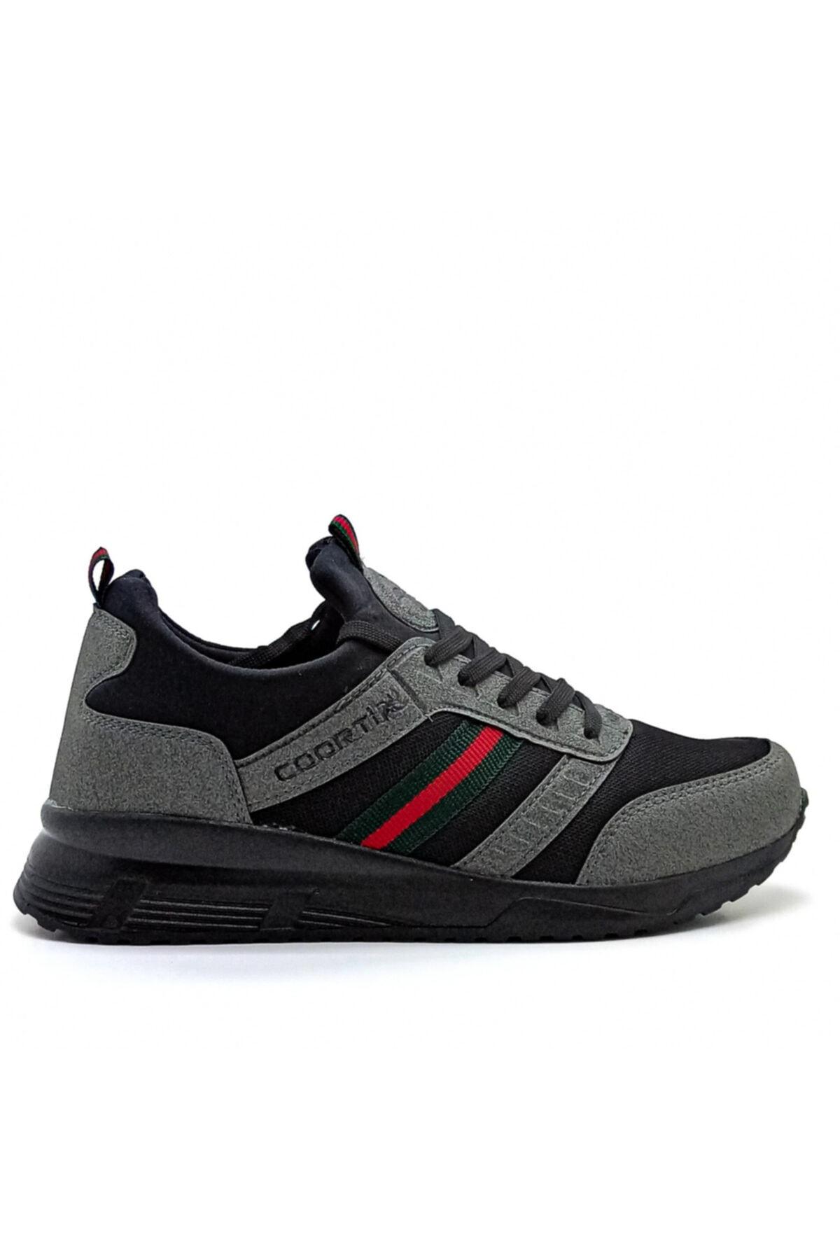 Hercule Shoes Erkek Gri Spor Ayakkabı Günlük Sneaker 1