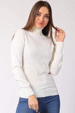 Twister Jeans Kadın Ekru  Boğazlı Triko 32805