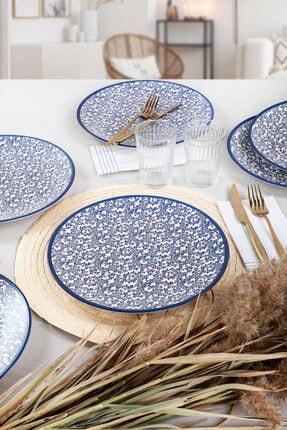 Keramika Mavi Tomurcuk Servis Tabağı 26 Cm 6 Adet - 19232