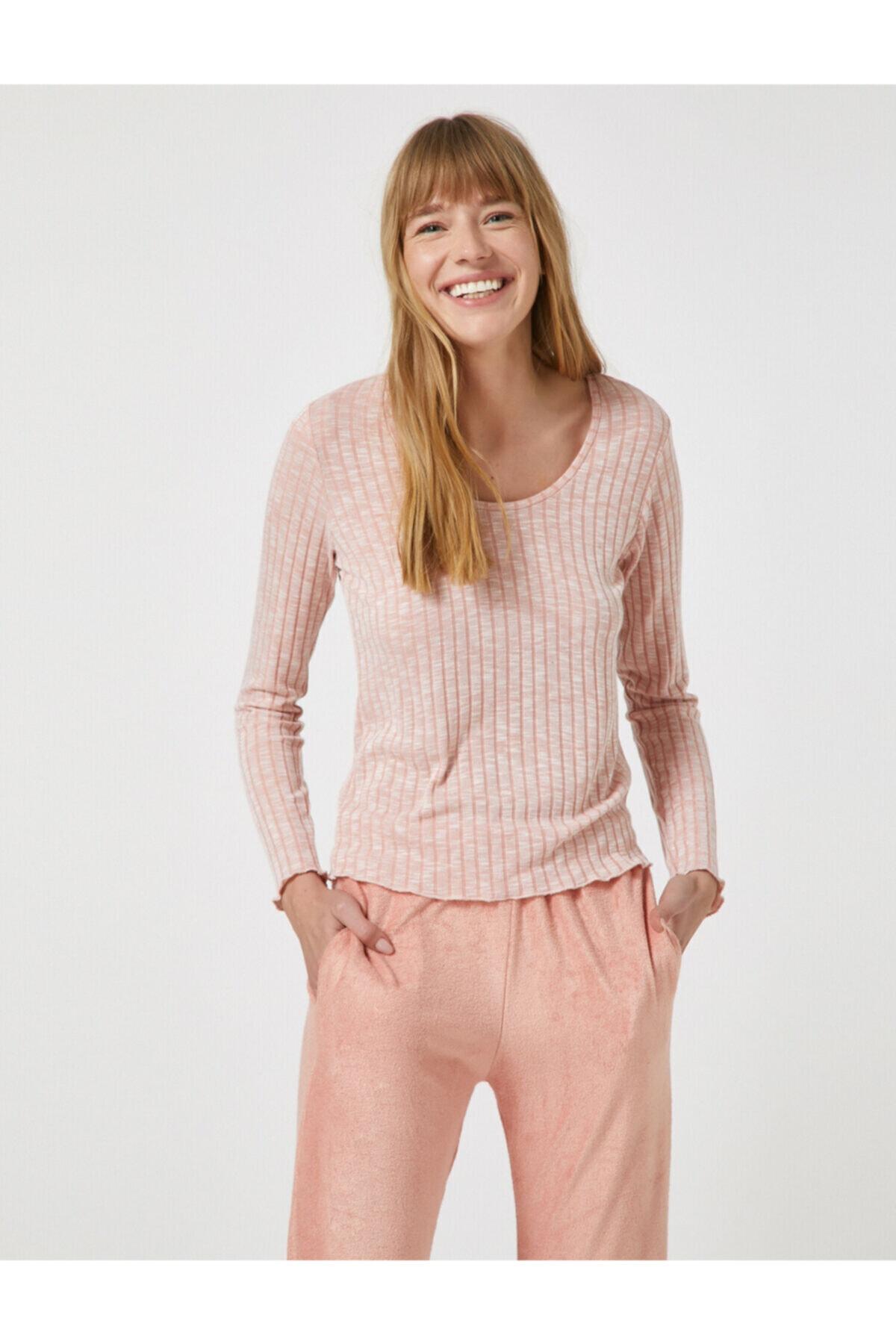 Koton Kadın Pembe Pijama Takımı 1