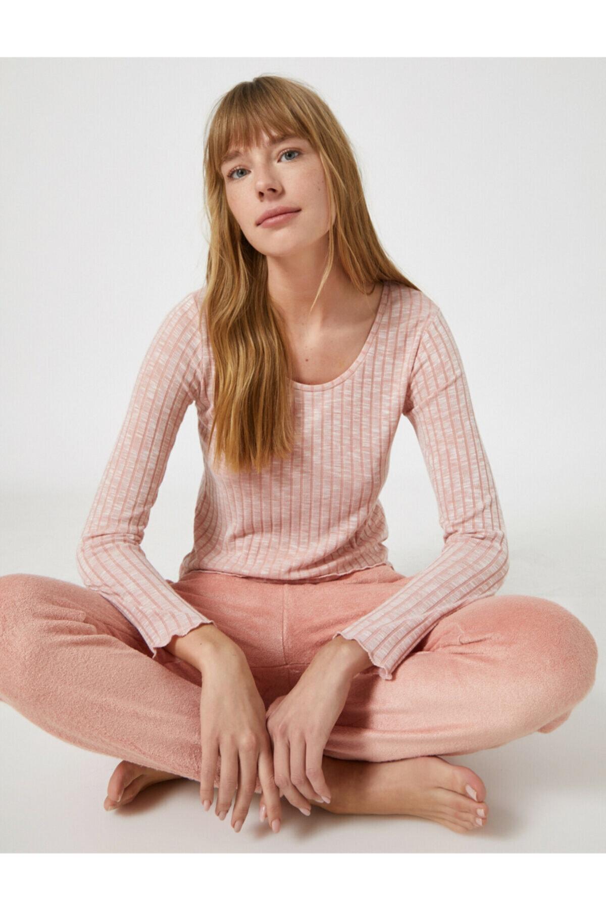 Koton Kadın Pembe Pijama Takımı 2