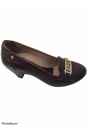 Forelli Kadın Bordo Ortopedik Günlük Hakiki Deri Ayakkabı 19269