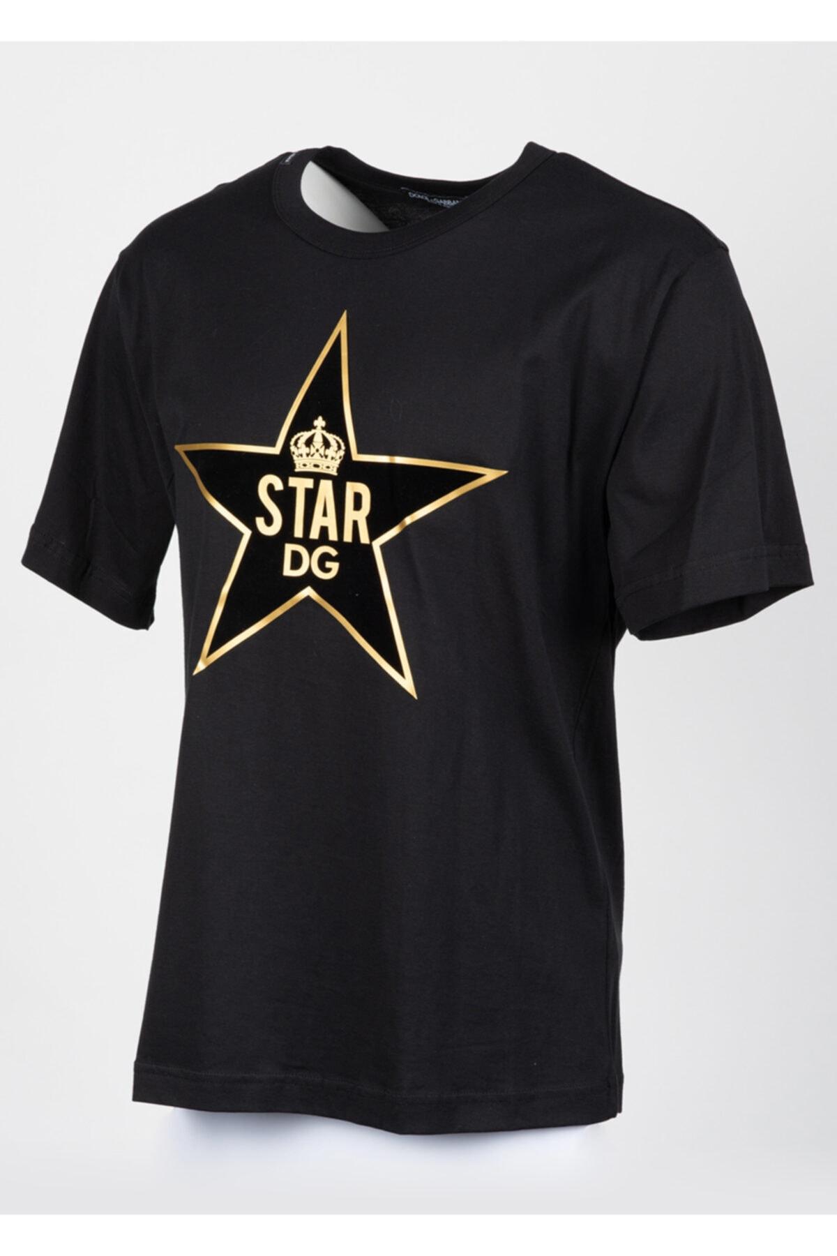 Dolce Gabbana Erkek Siyah Sıfır Yaka Tshirt 2