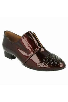 CLARKS Kadın Bordo Maskülen Deri Ayakkabı
