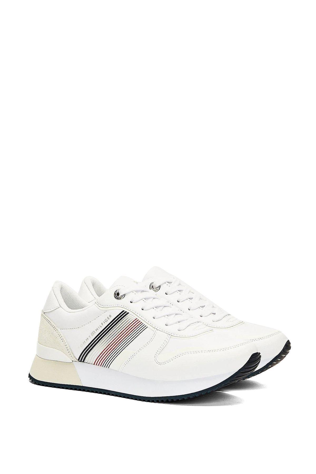 Tommy Hilfiger Kadın Beyaz Active City Sneaker Ayakkabı Fw0fw05011 1