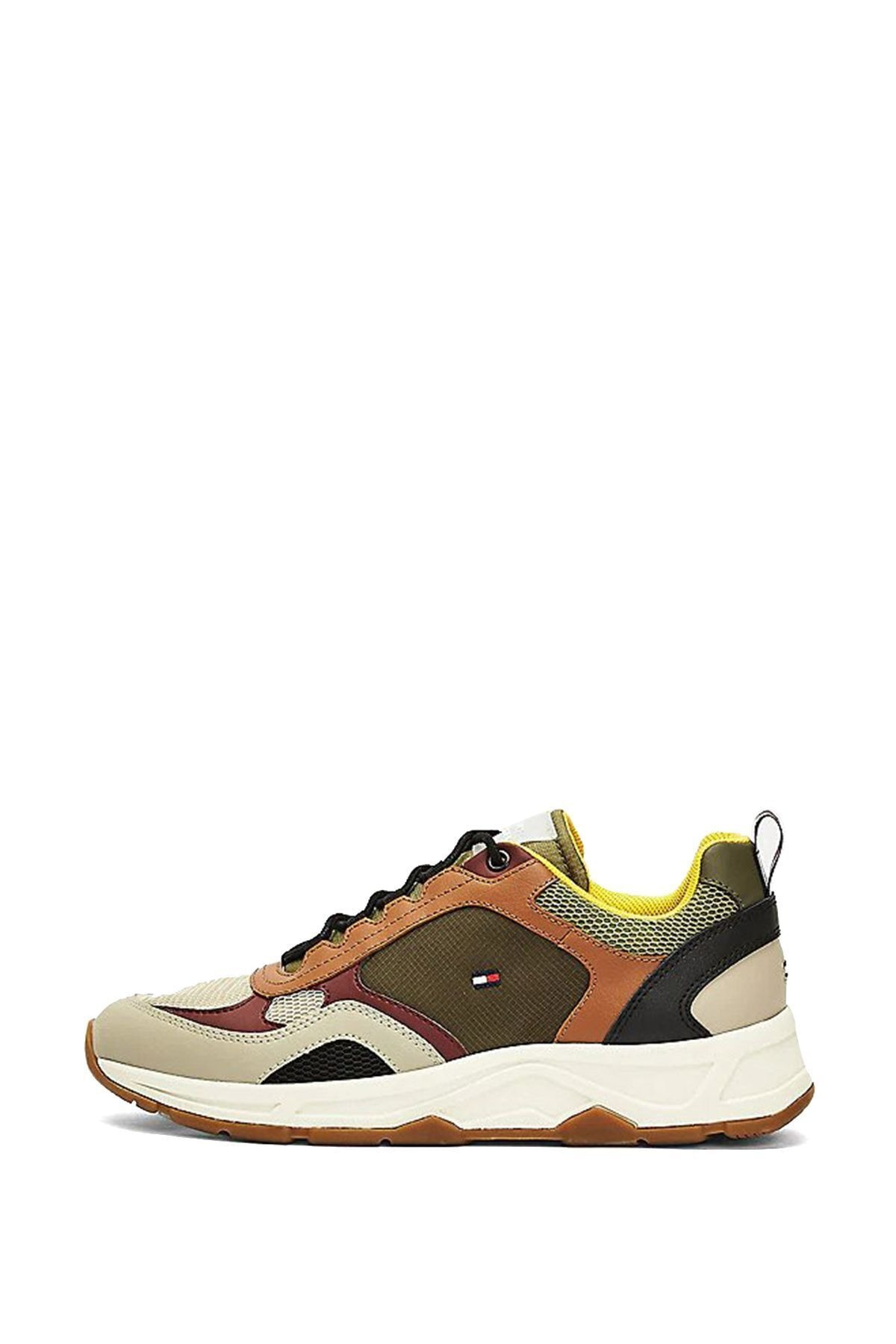 Tommy Hilfiger Erkek Kahverengi Fashion Mix Sneaker Ayakkabı Fm0fm02846 2