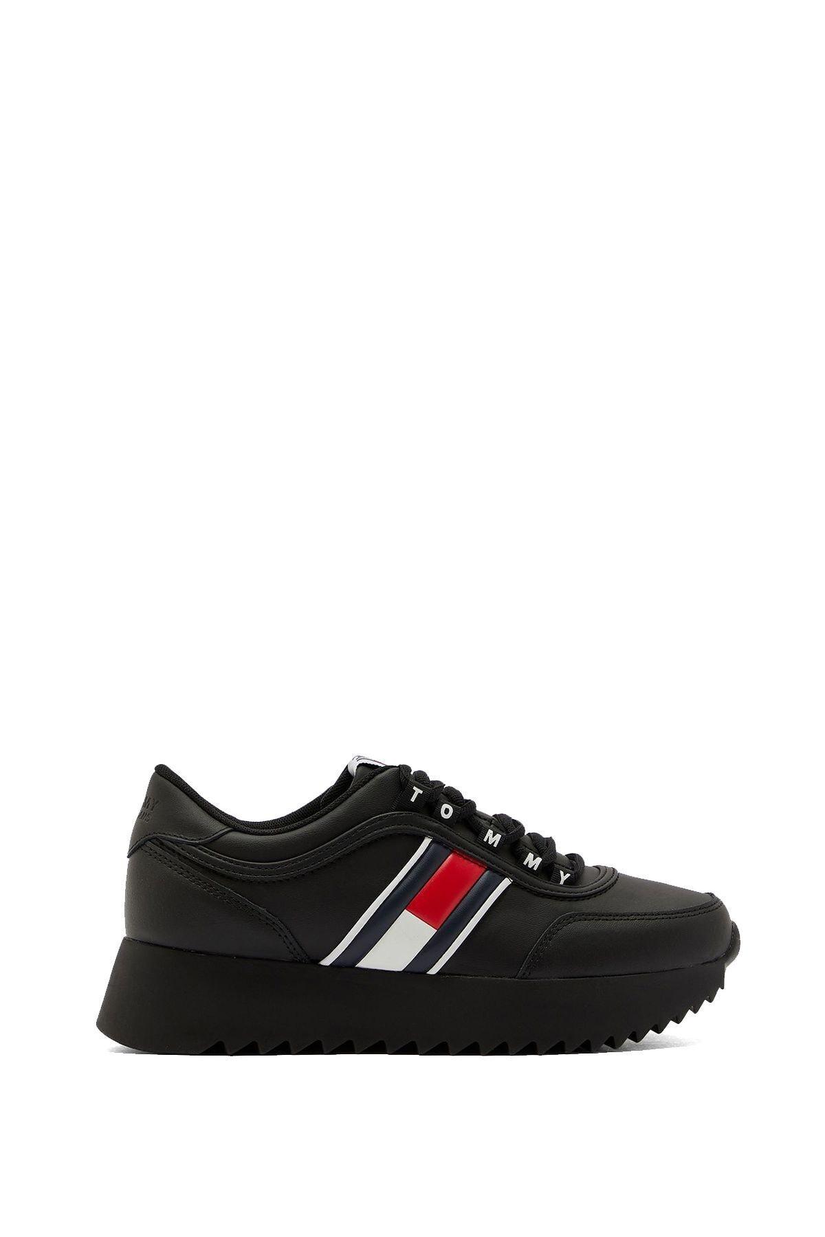 Tommy Hilfiger Kadın Siyah Sneaker 1