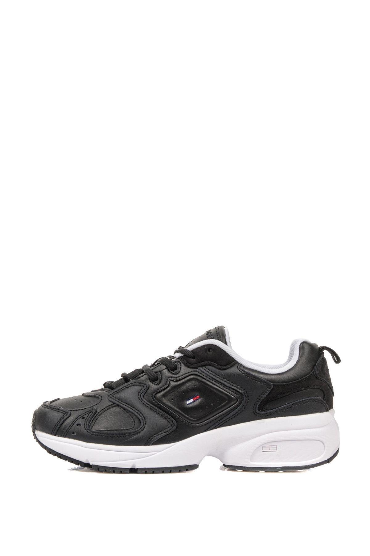 Tommy Hilfiger Kadın Siyah Wmn Heritage Sneaker En0en00947 2