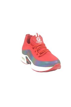 Guja Kadın Kırmızı Mega Kalın Taban Sneakers Spor Ayakkabı
