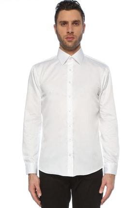 Network Erkek Beyaz Beyaz Italyan Yaka Gömlek 1075715