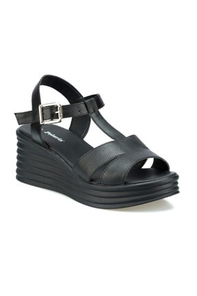 Polaris Kadın Siyah Günlük Sandalet