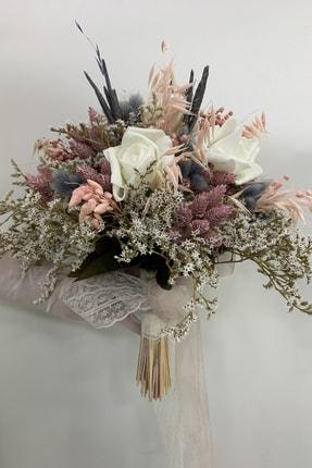 TURKUAZ El Buketi,gelin Çiçeği,gelin Buketi,damat Yaka Çiçeği