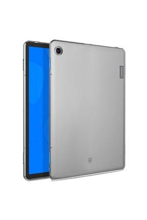 LENOVO M10 Plus Şeffaf Silikon Tablet Kılıfı Ve Ekran Koruyucu