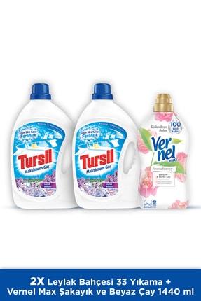 Tursil Jel Sıvı Çamaşır Deterjanı, Leylak Bahçesi 33 Yıkama + Vernel Max Şakayık 1440 Ml