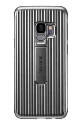MobilCadde Samsung Galaxy S9 Orijinal Standlı Silver Kılıf