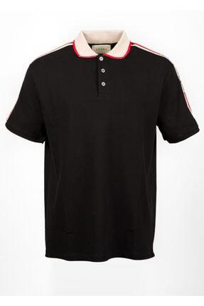 Gucci Erkek Siyah Polo Yaka Tshirt
