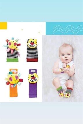 Babyjem Baby 4'lü Çıngırak Patik Ve Bileklik Set 24243