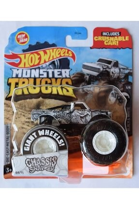 HOT WHEELS Monster Trucks 1:64 Scale Chassis Snapper Crushable Car