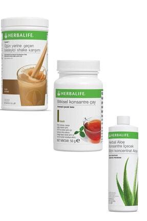 Herbalife Shake 1 Adet Fındıklı 1 Adet Klasik Çay 50 gr Ve 1 Adet Herbal Aloe Içecek