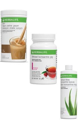 Herbalife Shake 1 Adet Fındıklı 1 Adet Ahududulu Çay 50 gr Ve 1 Adet Herbal Aloe Içecek