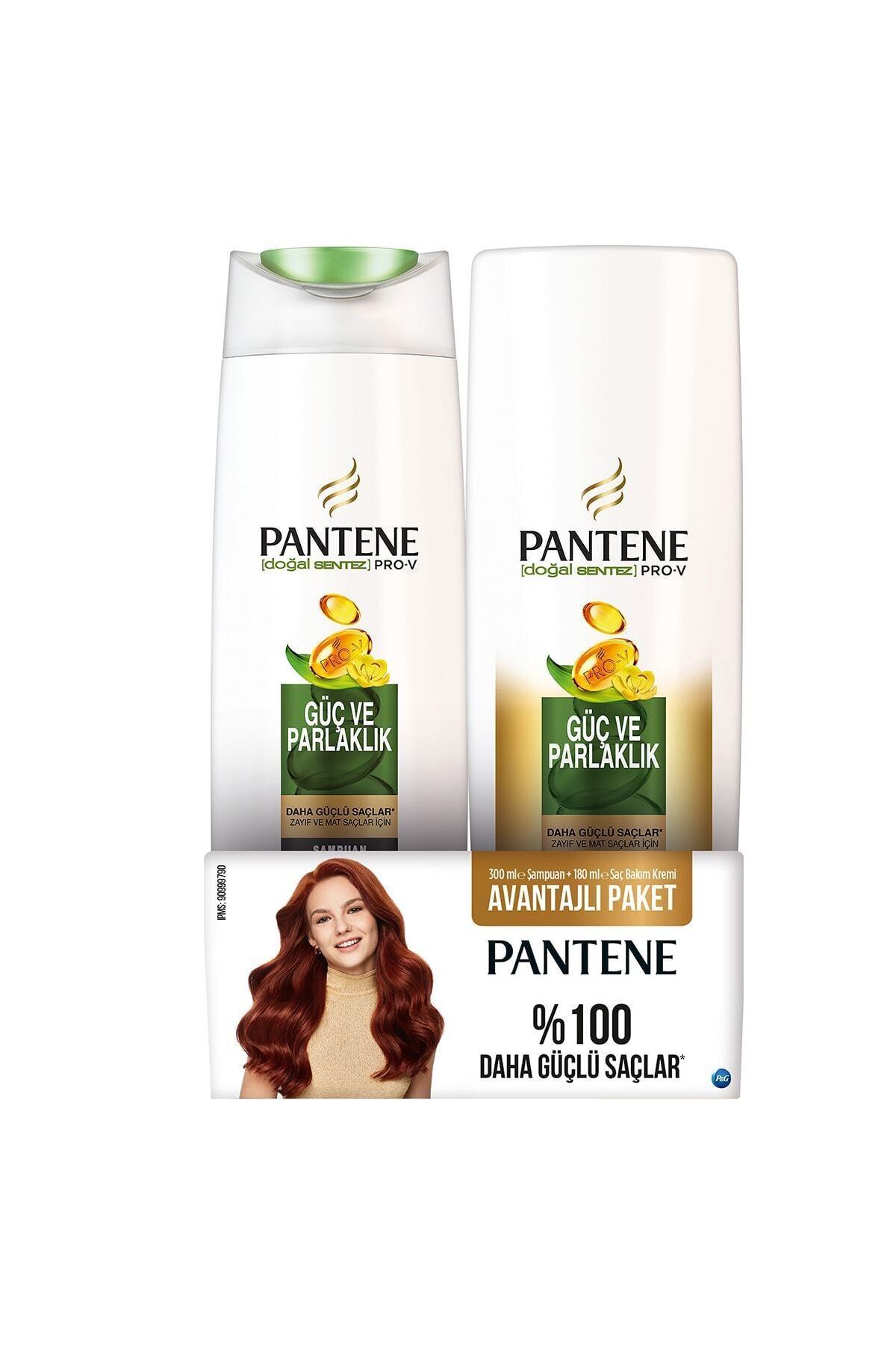 Pantene Güç Ve Parlaklık Şampuan 300 ml Saç Kremi 180 ml 1