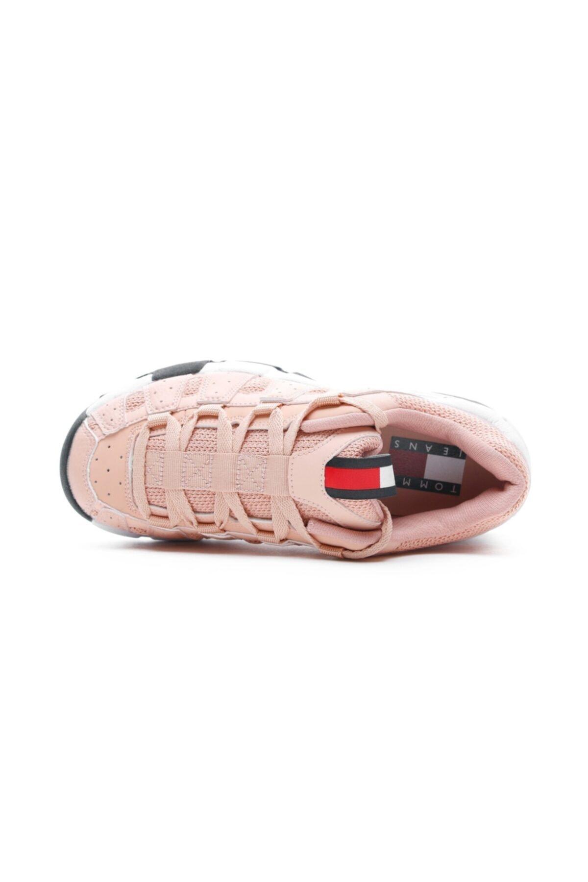 Tommy Hilfiger Kadın Pembe Heritage Chunky Spor Ayakkabı 1