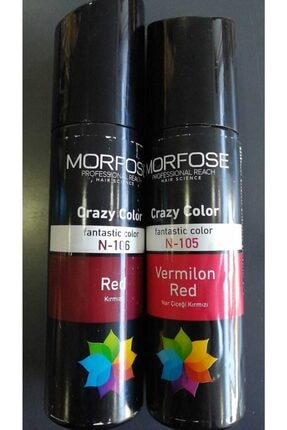 Morfose Crazy Color Red Ve Vermılıon Rengı 2'li Set