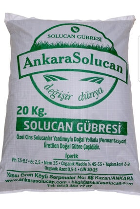 ANKARA SOLUCAN Katı Solucan Gübresi 20kg Ürünlerimiz Tarım Bakanlığından Tescil Ve Onaylı Dır