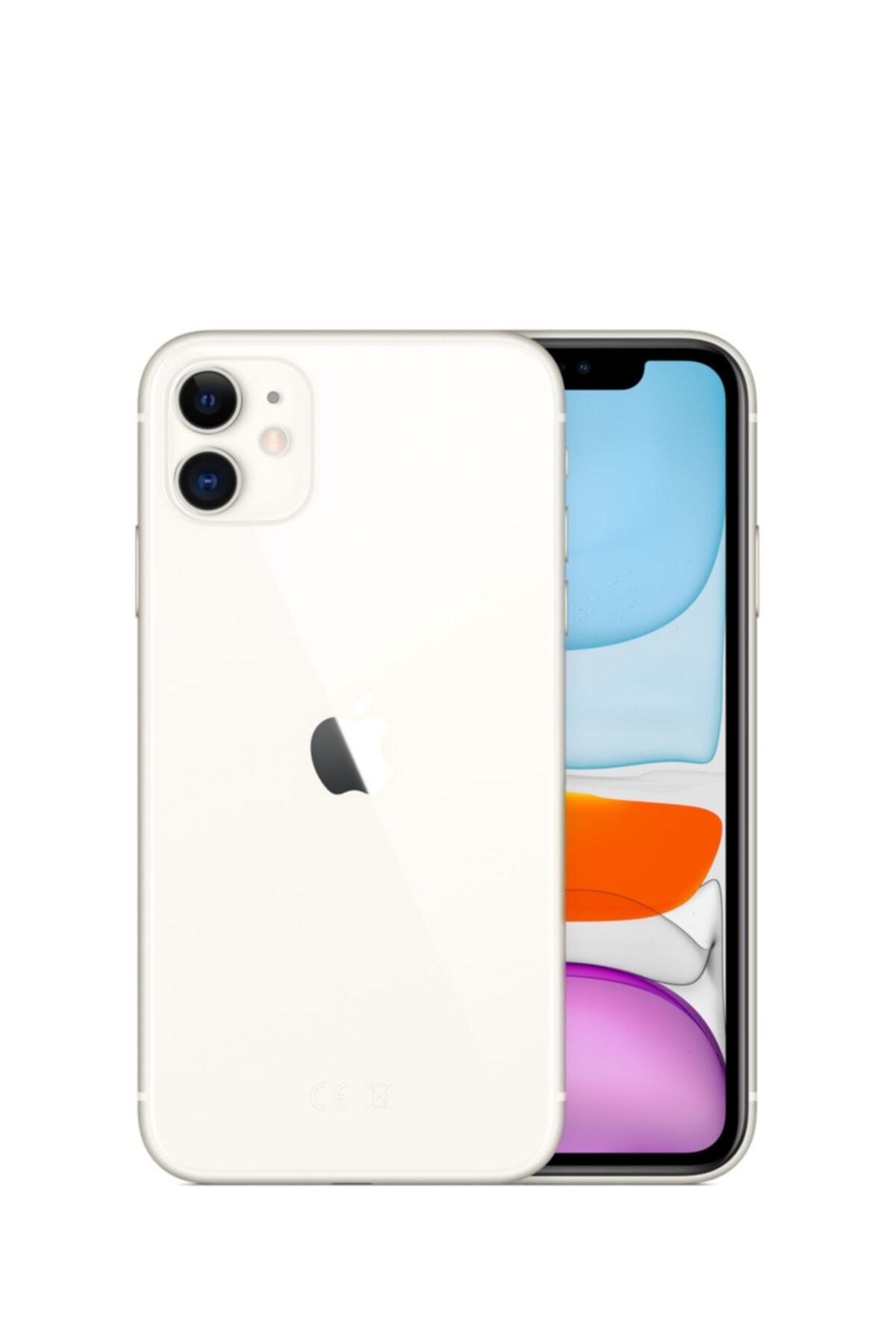 Apple iPhone 11 64GB Beyaz Cep Telefonu (Apple Türkiye Garantili) Aksesuarsız Kutu 1