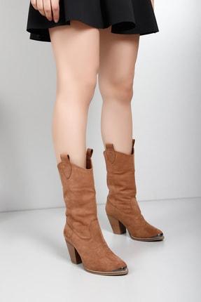 G.Ö.N Kadın Kahverengi Çizme 32301