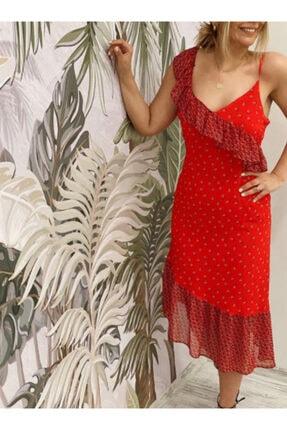Sateen Kadın Kırmızı Elbise