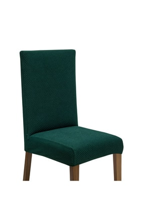 Latuda Concept Latuda Likralı Yıkanabilir Sandalye Kılıfı | Sandalye Örtüsü Zümrüt 1 Adet