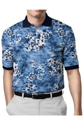 İgs Erkek Mavi Modern Fit Polo Yaka T-shirt