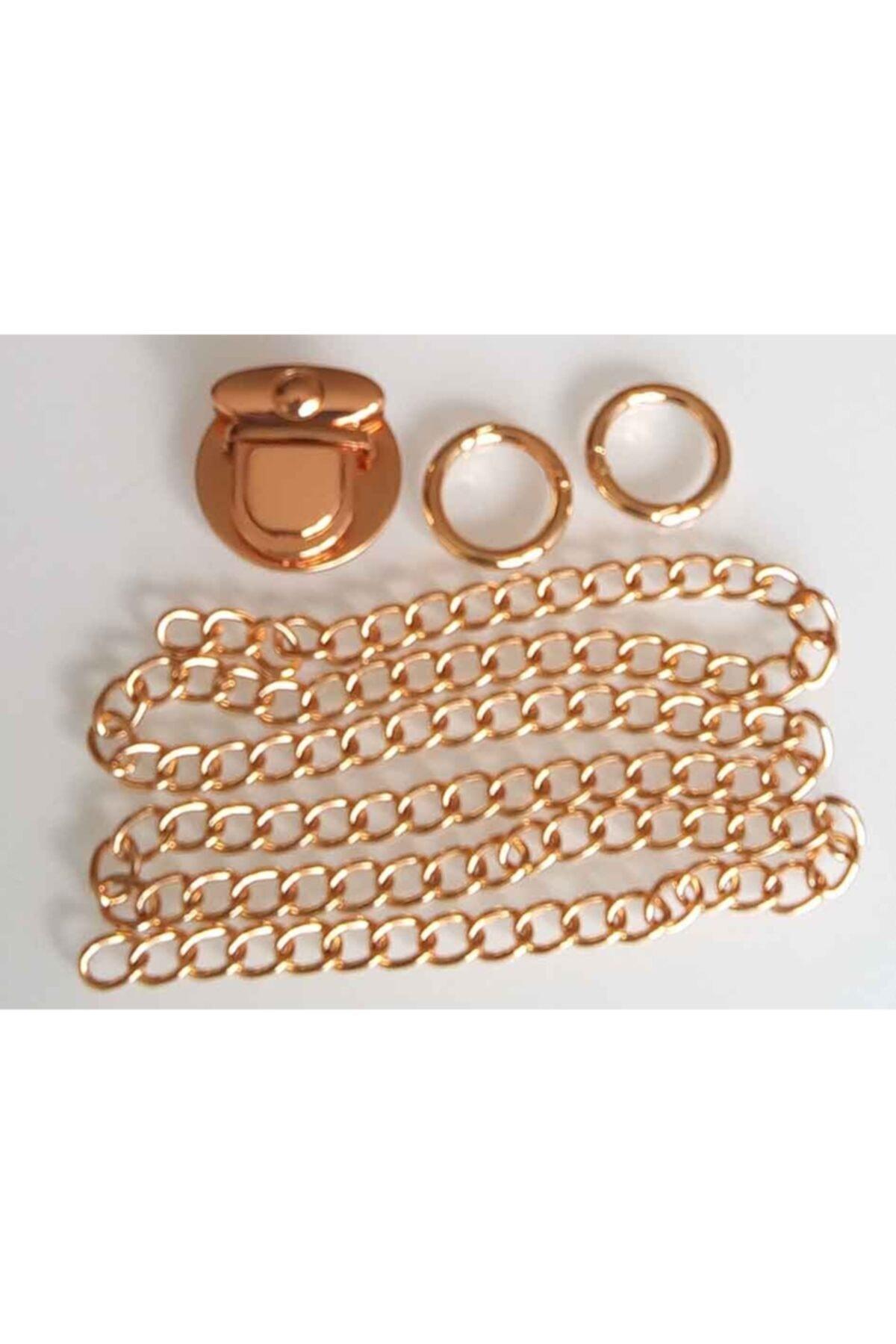 angel çanta aksesuar Light Gold Renk Zincir Set 1